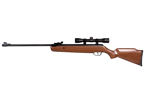 Crosman Remington Vantage .177 Caliber Hardwood Stock Break Barrel Air Rifle with 4 X 32mm Scope