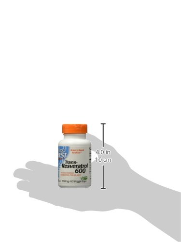 31d8lMujb6L - Doctor's Best Trans-Resveratrol 600, Non-GMO, Vegan, Gluten Free, Soy Free, 600 mg, 60 Veggie Caps