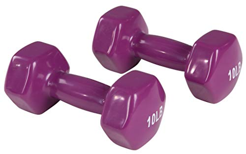 AmazonBasics Vinyl Dumbbells, Set of 2