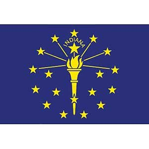 Flag State Indiana Poly 2ft X 3ft