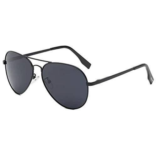 Aviator Polarized Sunglasses Aluminum Sun Glasses for Men Women UV Protection Classic Style (S3-Black/Grey) ()