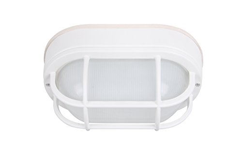 - CORAMDEO LED Bulkhead Light Worked as Wall Lantern Wall Sconce or Flush Mount Ceiling Light, 6.2W Replace 60W, 430 Lumen, Water-Proof, ETL and Energy Star Rated