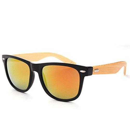 GodBless Unisex Retro Bamboo Wood Fashion Sunglasses(K9)