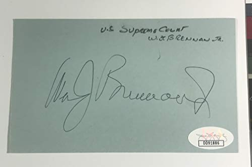 Supreme Court Justice William J. Brennan Jr. Autographed 3x5 Index Card