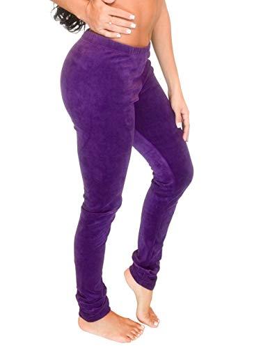 (Vivian's Fashions Long Leggings - Soft Velour, Misses Size (Purple, 3X))