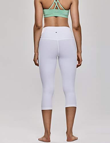 Avec Fitness Haute Yoga Taille R418 Legging Blanc Femme Sport Crz Léger Poche Tissu De En 4wPZHq