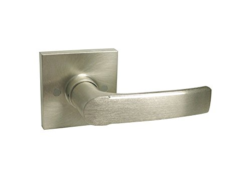 Plate Lever Handle - 3 Pack Satin Nickel Square Plate Dummy Handed Door Lever Handle Knob 8048DC