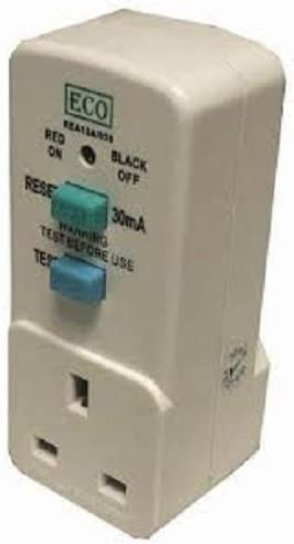 Plug In Circuit Breaker Power Cut Protection RCD Electrical Safety Adaptor 240V