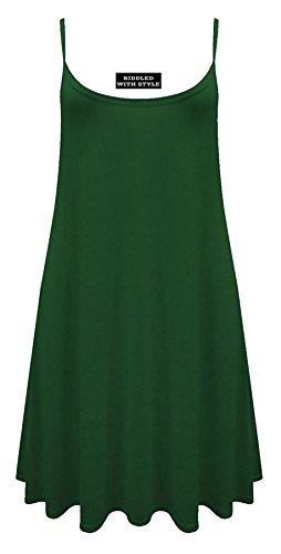 svasato forti Fashion Fairies Verde taglia da mimetico bottiglia motivo stampato Vestito taglie con 54 smanicato donna lungo 36 HIqqSafw