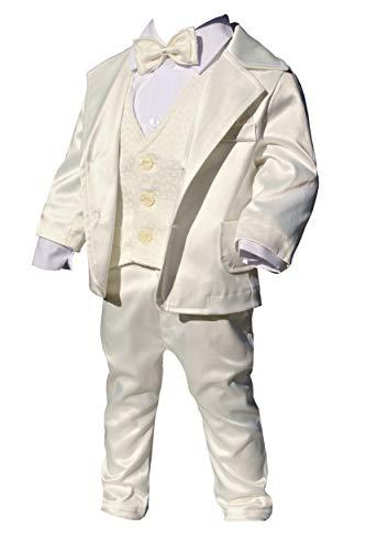 LULINA Abito da Battesimo (6pz), Vestito da Cerimonia Misto Cotone per Bambino, Color Panna (1965). 1