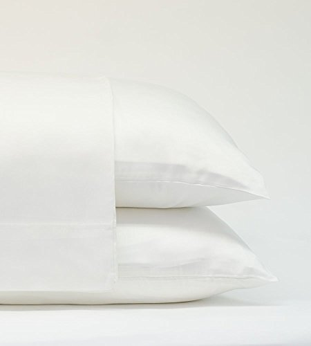 Cariloha Classic Bamboo Pillow Cases 2 Piece Pillowcase Set - Softest Pillow Cases - 100% Viscose from Bamboo (Standard, White)