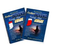 Indiana Fishing Map Book Guides Set - 2011 Editions