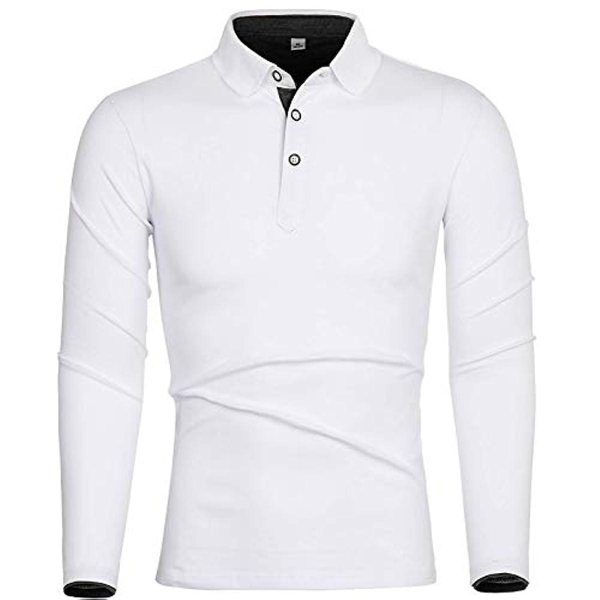 [해외] 폴로 셔츠 긴 소매 골프 웨어 맨즈 면 탑 POLO셔츠 스티치구 비지니스 스포츠 춘추