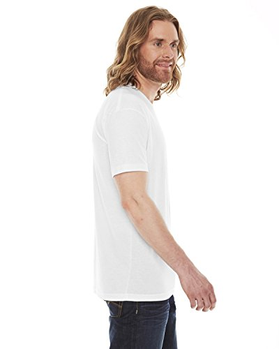 American Apparel Unisex Poly/cotton Short Sleeve Crew Neck T bb401 - White - XL