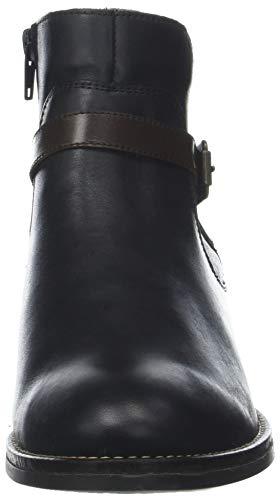 para Schwarz Negro Combi D8573 Botas Chelsea Mujer Remonte qOvtTw