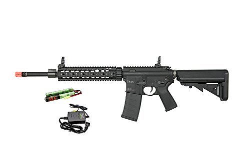 KWA RM4 SR10 AEG3 ERG Airsoft Rifle Combo w/ Recoil & Quick-Change Spring