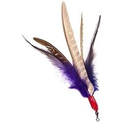 GoCat Da Bird Feather Super Refill Cat Toys, Assorted Colors