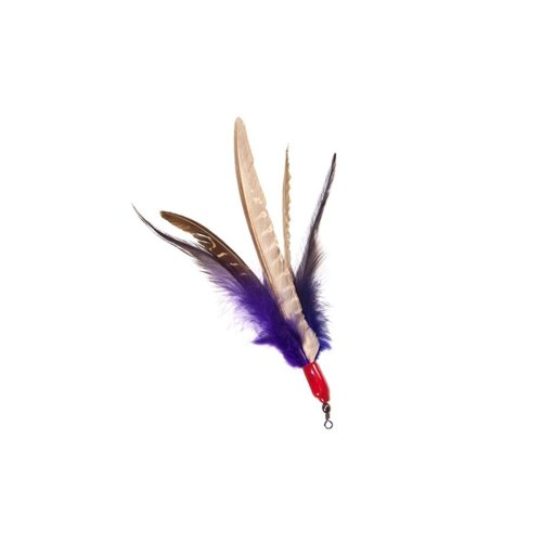 Go Cat Da Bird Feather Cat Toy Super Refill with Extra Feathers, Handmade in the USA, Assorted Colors (1 Pack)
