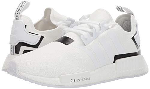 adidas Originals Men's NMD_R1 Running Shoe White/Black, 4 M US by adidas Originals (Image #5)