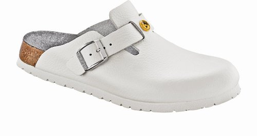 - Birkenstock Men´s Boston ESD White Leather Sandals L11 M9 42,0 N 061378