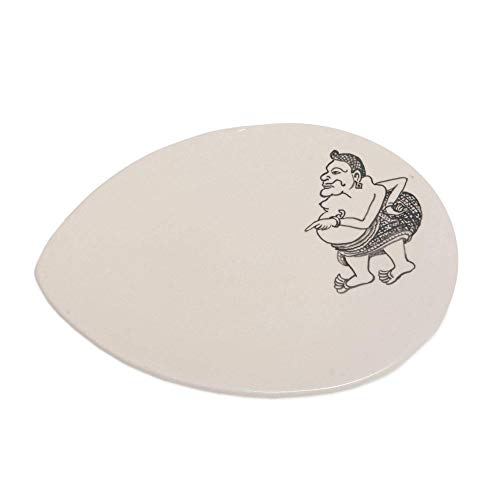 - NOVICA Black And White Ceramic Food Safe Serving Plate, Tualen Snacks'