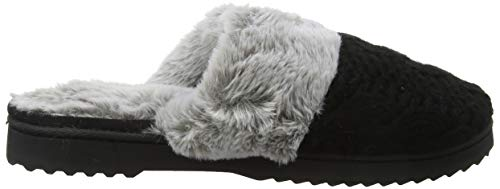 black Estar Mujer De Dearfoams Negro W Chunky Zapatillas 001 Para Por Scuff Casa Knit Cuff plush 8qgR68w