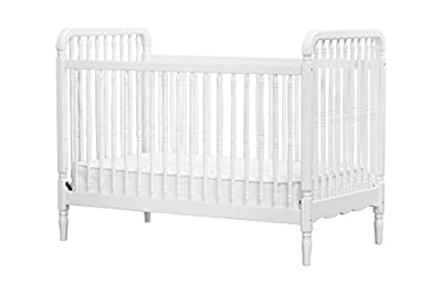 Liberty 3-in-1 Convertible Crib with Pure Core Non-Toxic Crib Mattress with Dry Waterproof Cover