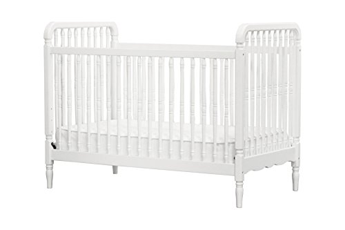 Classic Liberty 3-in-1 Convertible Spindle Crib with Toddler Bed Conversion Kit, White ()