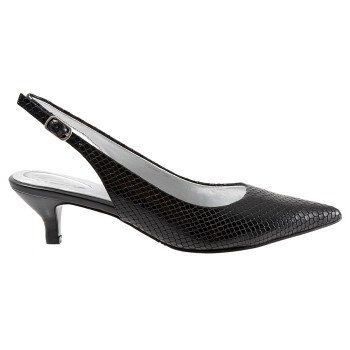 Trotters Womens Prima Dress Pump Serpente Nero