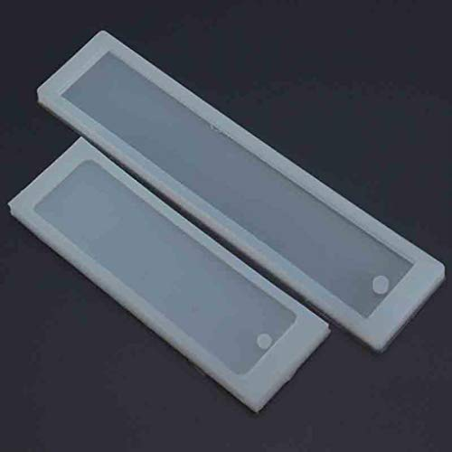 Price comparison product image Yongse 2Pcs Rectangle Silicone Mold Mould for Epoxy Resin Jewelry Bookmark DIY Craft
