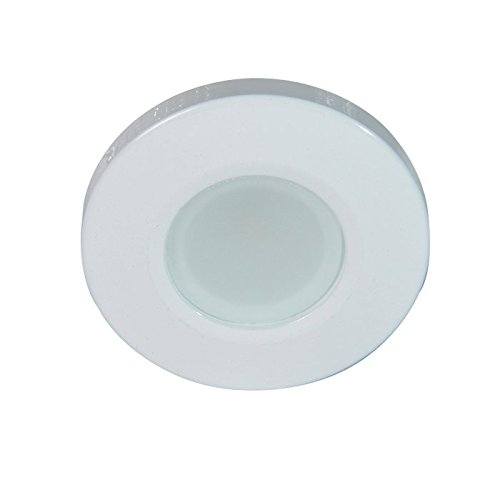 - Lumitec 115258, Orbit Flush Mount Down Light, LED, White Housing, Dimmable White, Non-Dimming Red, Non-Dimming Blue