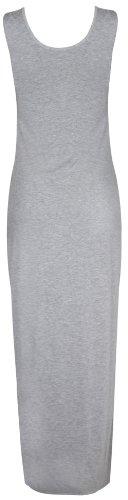 Hanger Maxi Robe Longueur Extensible clair Purple Gris t Uni Neuf Rond Longue Manche Pleine Col Femme Sans dPHnUB
