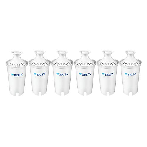 (Brita Standard Water Filter, Standard Replacement Filters for Pitchers and Dispensers, BPA Free - 6 Count)