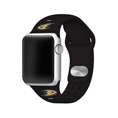 - GAME TIME Anaheim Ducks Silicone Sport Band Compatible with Apple Watch - 38mm/40mm Black