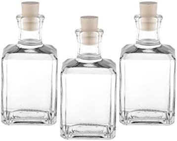 casavetro Tapón de Corcho Transparente Botellas de Vidrio vacías 250 ml - Tapas de Corcho Recargables Reutilizables - Apretado al Aire para endrinas Gin Aceite Vinagre Cerveza Vino Sidra(10 x 250 ml)