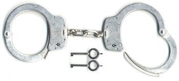 - Smith & Wesson Model 100P Chain-Linked Handcuffs w/Push Pin Double Locking System