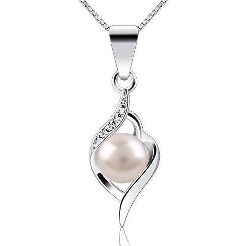 B.Catcher Silver Pendants Pearl 925 Sterling Silver Twist ()