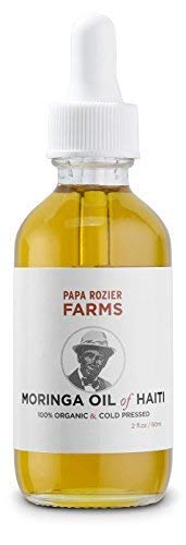 Moringa Oil of Haiti 2oz - Grown On Our Farms, Crushed In Our Farmhouse in Brooklyn - Undiluted, Cold Pressed, And Unrefined For Hair, Skin, Eyelashes, Eyebrows & Nails - from Papa Rozier Farms