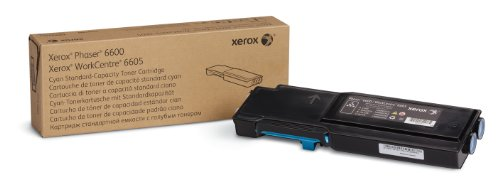 Phaser Cyan (Genuine Xerox Cyan Toner Cartridge for the Phaser 6600 or WorkCentre 6605, 106R02241)