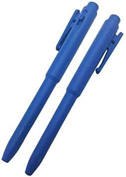 Bolígrafo detectable recargables estándar/por caja de 25 unidades, color azul, color de la tinta azul, paquete de 25 unidades: Amazon.es: Oficina y papelería