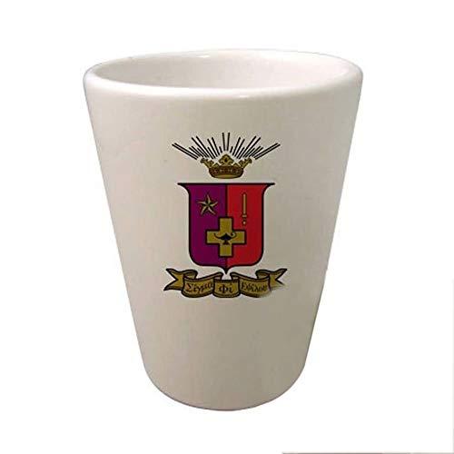(Greekgear Sigma Phi Epsilon SigEp Crest Ceramic Collectors Glass Gloss White)