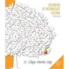 Beginng & Intermed Alg & Student Study Pack