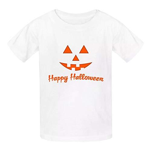 White Marsh Halloween (Ethel Marsh Happy Halloween Boys and Girls Fashion Cotton Round Neck T-Shirt Kids T-Shirt White)