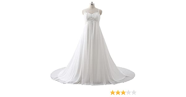 08d1e53e684f BoShi Women's Plus Size Appliques Beads White Bride Wedding Bridesmaid Gowns:  Amazon.ca: Clothing & Accessories