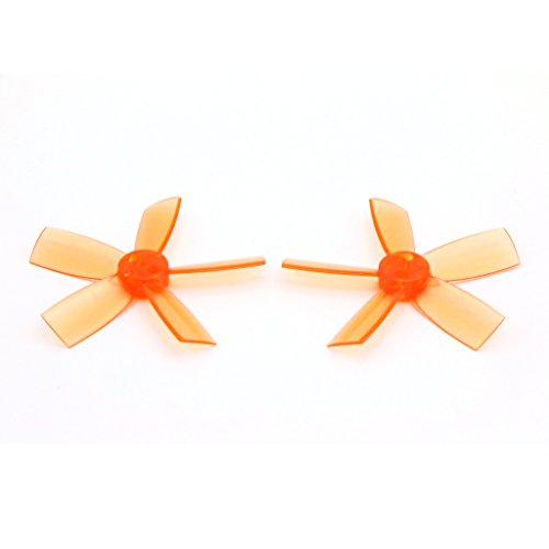 8 Pairs DYS 1735 Propellers 1.7 Inch 5-Blade PC Prop for FPV RC ELF Micro Drone (Orange)