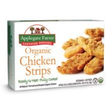 Applegate Farms Organic Chicken Strip, 8 Ounce -- 12 per case. (Organic Chicken Strips)