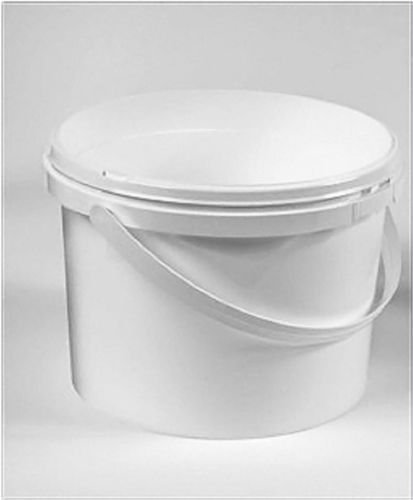 2.5 Litre White Plastic Pail Complete With White Lid x 10 Mystic Moments