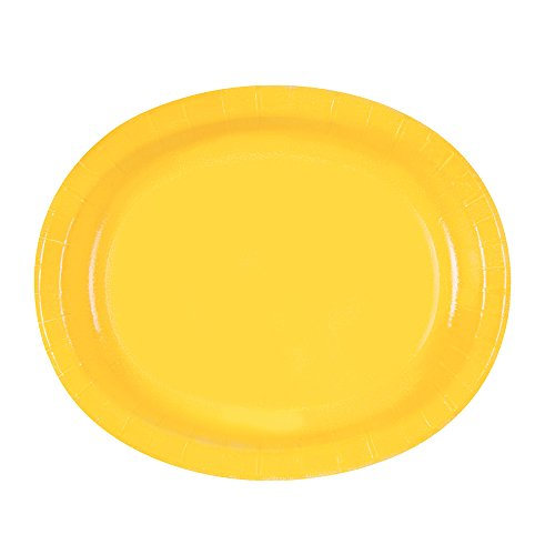 Yellow Oval Paper Plates 8ct