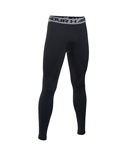 Under Armour Men's HeatGear Armour Compression Leggings, Black /Steel, XX-Large by Under Armour (Image #3)