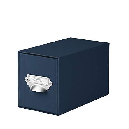 Rössler 1327452900 - Caja para CD, color azul marino, 1 unidad